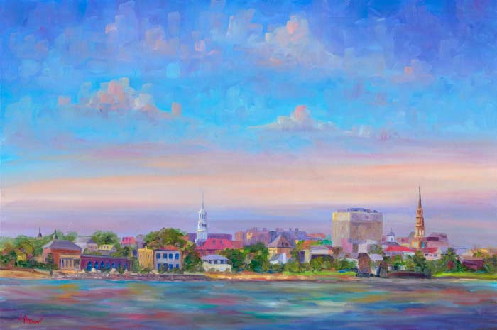 Charleston Skyline painting