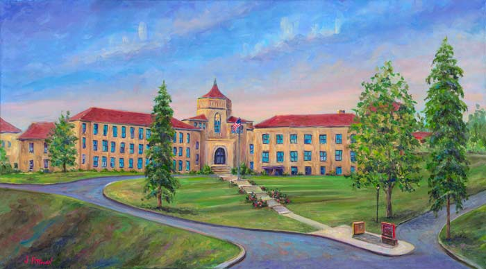 Painting of asheville High School