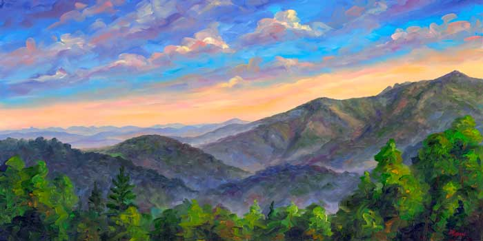 View of Grandfather Mountain Painting Prints