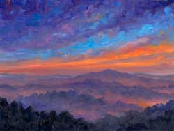 Blue Ridge Sunset OIl Painting