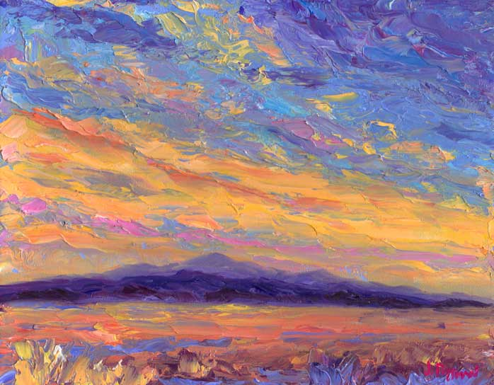 Easy To Paint Canvas Sunset