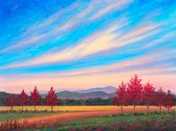 Asheville Fall Color Oil Painting
