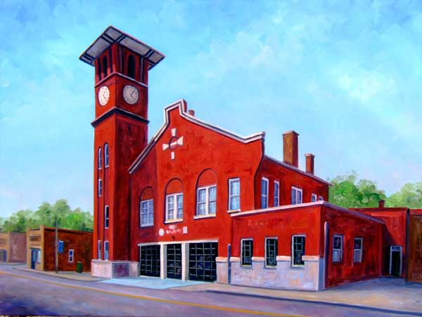 Fire Station Clock Tower Henderson NC