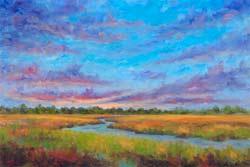 Sunset Marsh View Morris Island Folly