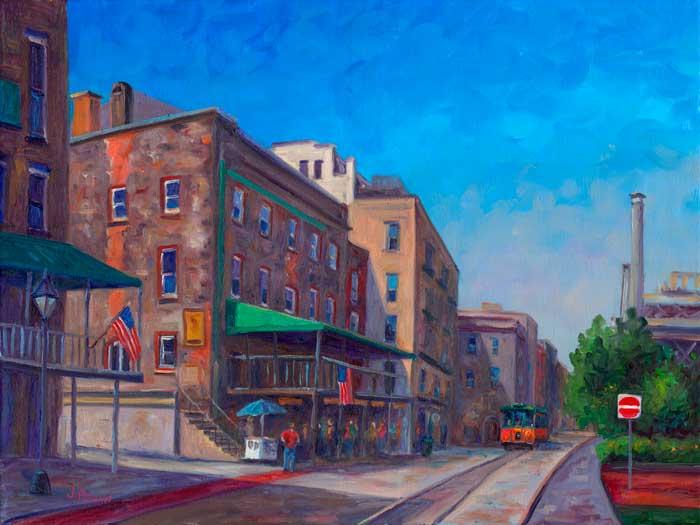 River Street Savannah Georgia Oil Painting And Prints