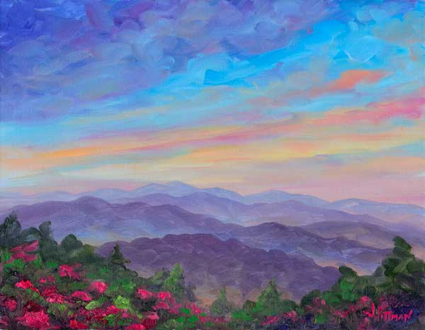 Rhododendron on Roan Mountain Painting Prints
