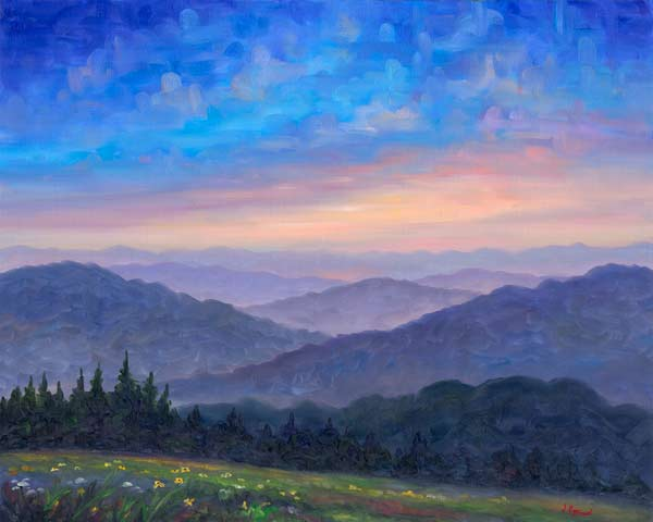 Smoky Mountain Wildflowers Oil Painting And Prints