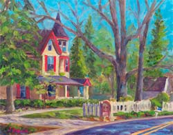 The Oaks Saluda North Carolina painting art print