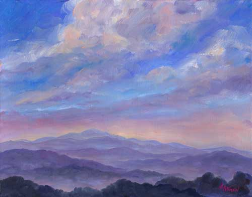 MIsty Mountains Oil Painting on canvas