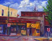 Bonnie's Little Corner - Oil painting Asheville Art