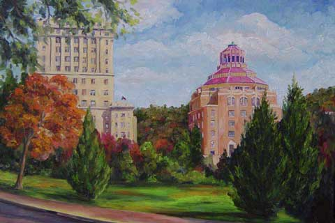 City County Asheville - Buncombe Art Oil painting