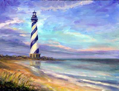 Cape Hatteras Lighthouse - Oil Painting on Canvas