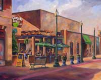 Laughing Seed Cafe - OIl Painting Asheville Art