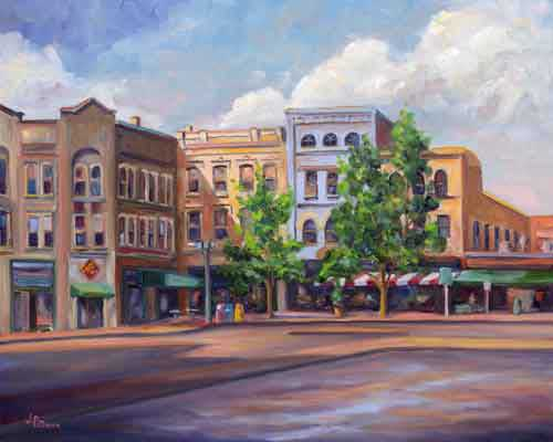 Pack Square Painting - Asheville Art