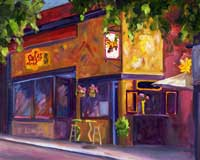 Salsa's Restaurant - Asheville Oil Painting