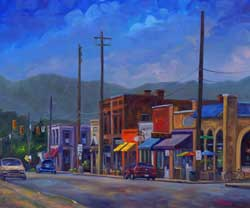 Main Street Weaverville NC Painting Prints Art