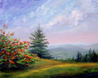 Roan Mountain Tennessee Iol painting on canvas