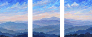 Mountain Art Triptych panel