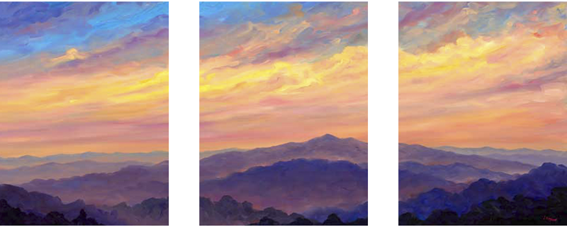 Cold Mountain Panorama - Blue Ridge Parkway, River Arts District Artist
